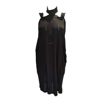 2007 Saint Laurent rive gauche black dress