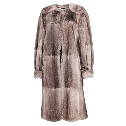 Vintage 1960s Rabbit fur grey Hybrid Coat