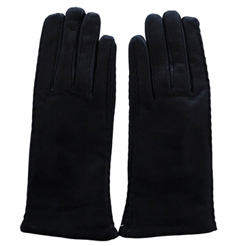 Antonio Murolo Leather and cashmere Dark Blue Vintage gloves