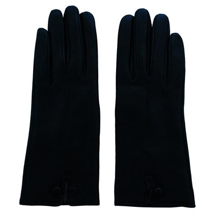 Leather and cashmere gloves