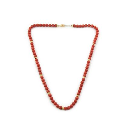 Marcello Minotto Coral and gold necklace
