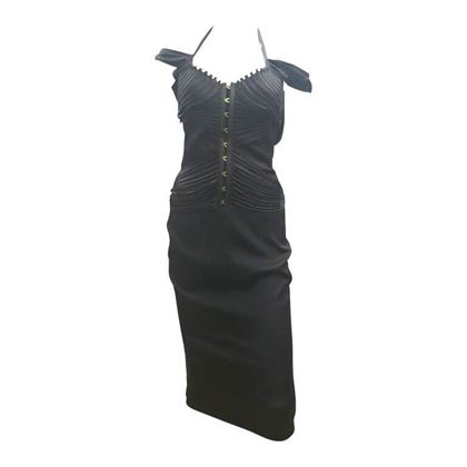 Gucci by Tom Ford Bustier Black Vintage Midi Dress