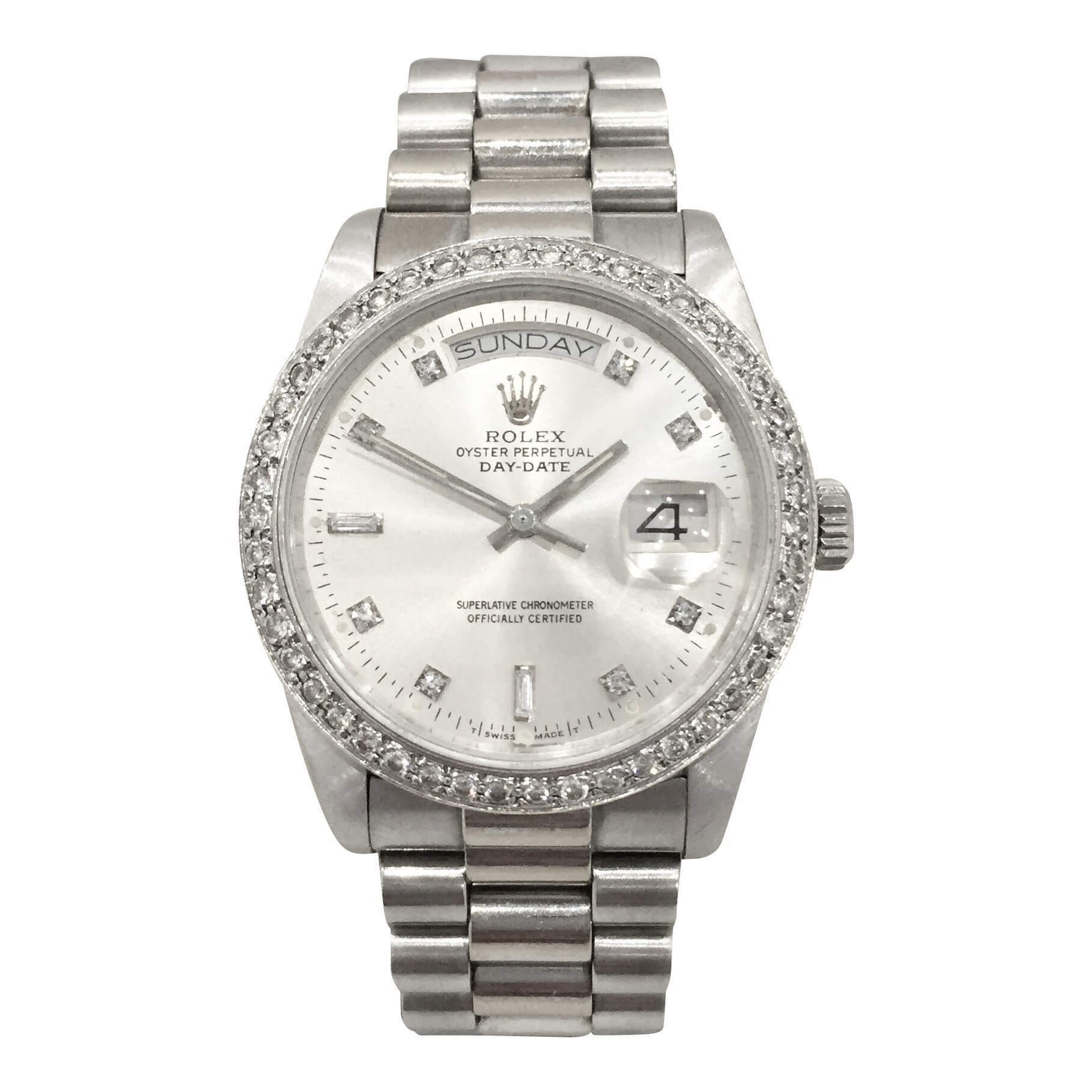 rolex 118238 day date president white gold vintage mens watch rolex 118238 day date president white gold vintage mens watch