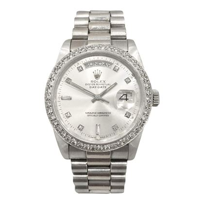 Rolex 118238 day/date President white gold vintage mens watch