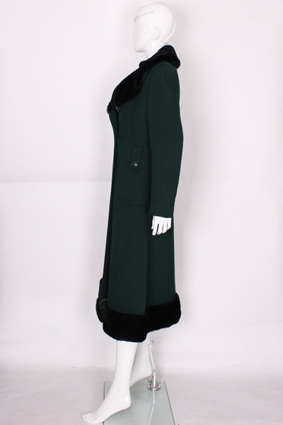 Mansfield For Harrods Pine Green Coat