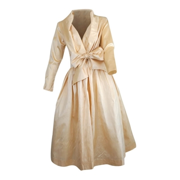 Catherine Regehr 1980s silk Pale Peach vintage Dress