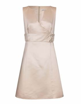 Picture of I. Magnin 1960s silk cream vintage Dress