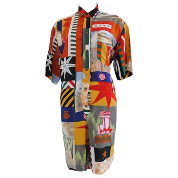 Moschino Jeans 1990s Peace Patchwork Multicoloured Vintage Jumpsuit