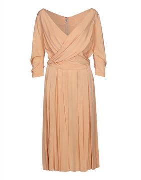 Christian Dior 1950s Silk peach vintage Dress
