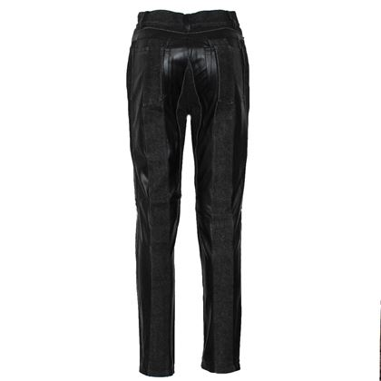 Viktor & Rolf Eco leather black vintage jeans