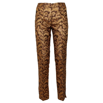 Dolce & Gabbana brocade Gold vintage trousers