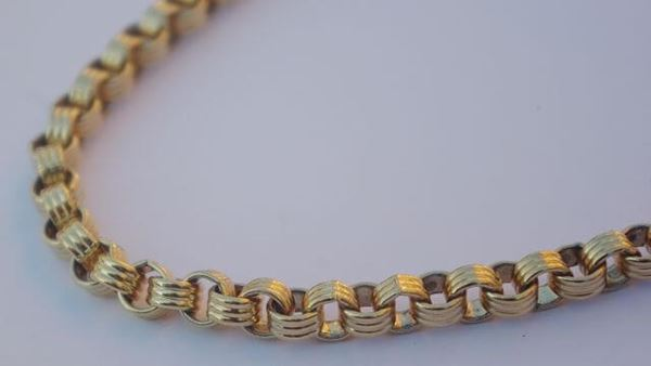 Givenchy 1980s chunky gold tone vintage chain necklace