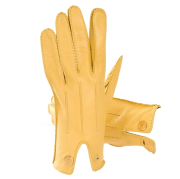 Hermes 1990s Leather yellow vintage Gloves