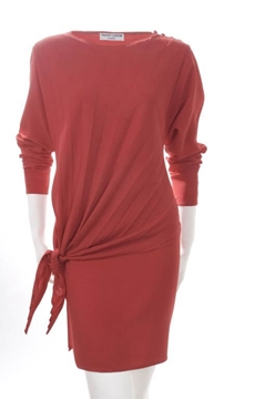 Pierre Cardin 1970s Bright Red vintage Dress