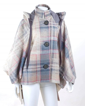 Vivienne Westwood Anglomania 1990s tartan Cream and Blue vintage Cape