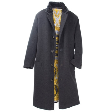 Gianni Versace Couture 1990s Mens black vintage Overcoat