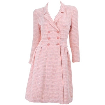 Chanel 1990s CC Logo Button pink vintage dress