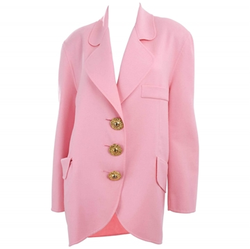 Christian Lacroix 1990s Summer Wool pale pink vintage Jacket