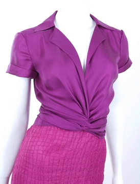 Gianni Versace 1990s Couture purple vintage blouse & top set