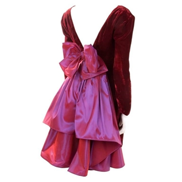 Guy Laroche 1980s Boutique bow detail red vintage Dress