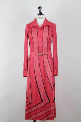 Picture of Roberta di Camerino 1970s jersey trompe l'oeil lobster red vintage dress
