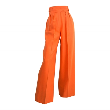 Valentino 1970s High Waist Wide Leg orange vintage trousers