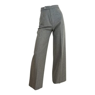 Yves Saint Laurent 1970s wool Wide Leg grey vintage trousers