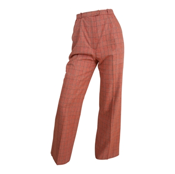 Bill Blass 1970s plaid Wide Leg red vintage trousers