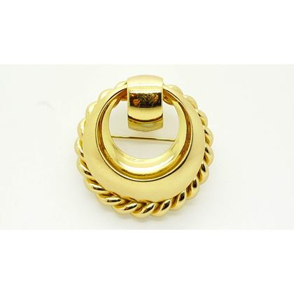 Grosse 1970s Gold Plated Vintage Brooch