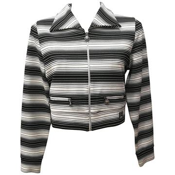Versace Jeans Couture Striped Zipped Monochrome Vintage Jacket