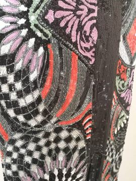 Versace 1980s Iconic Embellished Multicolour Vintage Dress