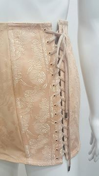 Jean Paul Gaultier 1990s Lace Up Nude Vintage Skirt