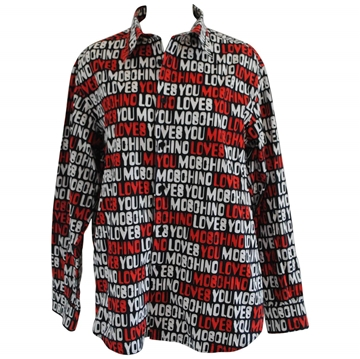 Moschino Jeans Moschino loves you Black Vintage Mens Shirt