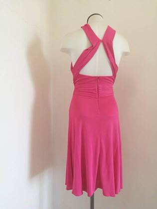 Versace Collection Belted Halter Neck Pink Midi Dress
