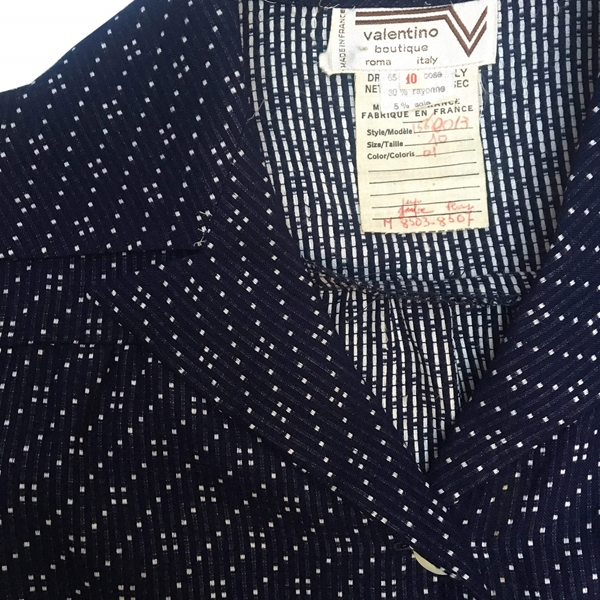 Valentino 1970s two piece navy vintage suit