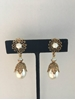 Picture of Miriam Haskell 1950s daisy motif faux pearl gilt vintage earrings