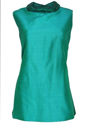 Picture of Peter Barron 1960s beaded collar green vintage Top