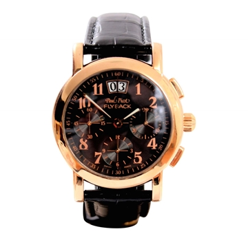 Paul Picot Firshire Round Flyback gold mens watch