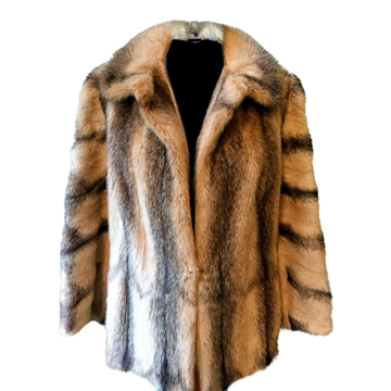 Picture of Saga 1980s two tone mink fur brown vintage coat