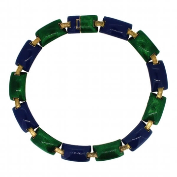 Ciner 1970s Vintage Enamel Necklace