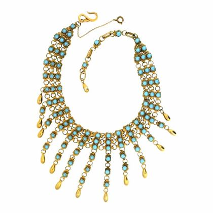 Christian Dior by Mitchel Maer 1950s Faux Turquoise Vintage Necklace