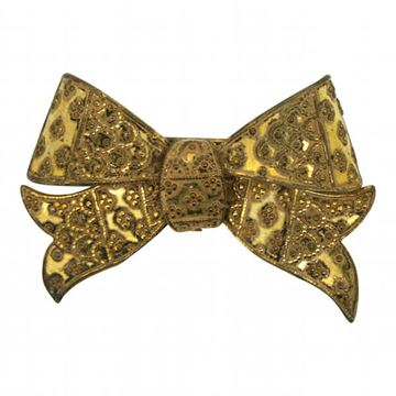 Miriam Haskell 1940s Vintage Bow Brooch