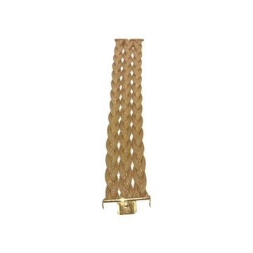 Vintage 1950s 18K gold linked  bracelet