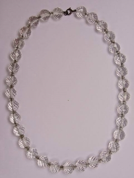 Art Deco Clear Beehive Crystal vintage Necklace