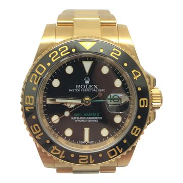 Rolex GMT master II 18k gold vintage mens watch