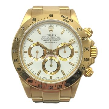 Rolex Daytona 18k gold vintage mens watch