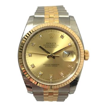 Rolex Datejust stainless steel and yellow gold vintage mens watch