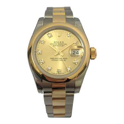 Rolex Date Just two tone ladies vintage watch