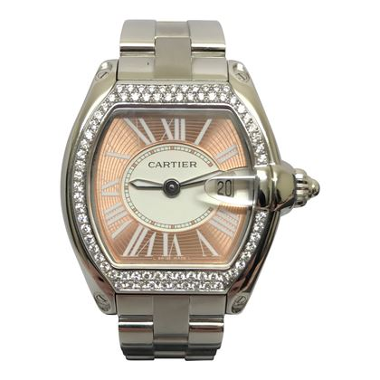 Cartier Roadster mid size pink ladies watch