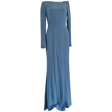 Versace 1980s backless light blue vintage Maxi Dress